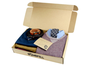 A box of bombfell.com clothes (credit: Aparna Zalani, CBS 11 Special Project's Producer)
