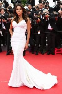 Eva Longoria, in a custom Gabriella Cadena gown.