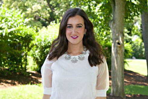 Nasty Gal White Mesh Sheer Top Kate Spade Necklace